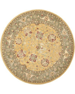 """Charlton Home Dunbar Hand-Tufted Wool Multicolor Area Rug CHLH6210 Rug Size: Round 3'6"""""""