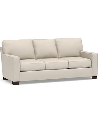 Buchanan Square Arm Upholstered Deluxe Sleeper Sofa, Polyester Wrapped Cushions, Performance Brushed Basketweave Oatmeal