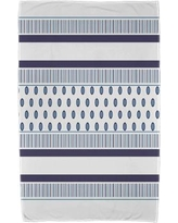 East Urban Home Comb Beach Towel ESTW5587 Color: Navy Blue/Light Blue