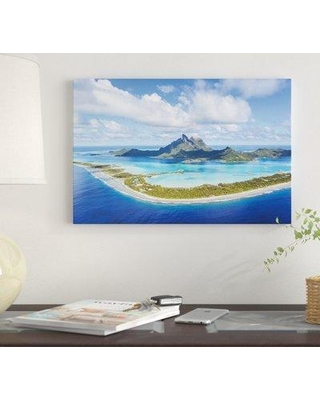 "East Urban Home 'Bora Bora Island French Polynesia' By Matteo Colombo Graphic Art Print on Canvas EUME2550 Size: 8"" H x 12"" W x 0.75"" D"