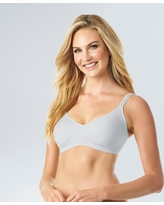 Simply Perfect by Warner's Women's Underarm Smoothing Seamless Wireless Bra - Gray Heather S, Heather Gray