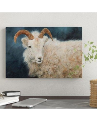 "East Urban Home 'Mountain Goat I' Graphic Art Print on Canvas EBHU8612 Size: 18"" H x 26"" W x 0.75"" D"