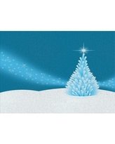 East Urban Home Holiday Blue Area Rug X112012020 Rug Size: Rectangle 4' x 6'