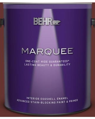 BEHR MARQUEE 1 gal. #PPU2-01 Chipotle Paste Eggshell Enamel Interior Paint and Primer in One