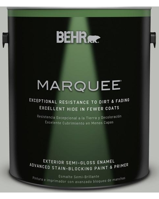 BEHR MARQUEE 1 gal. #PPU24-17 Hailstorm Gray Semi-Gloss Enamel Exterior Paint and Primer in One