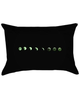 Brayden Studio Enciso Moon Phases Pillow Cover BYST5888 Color: Green