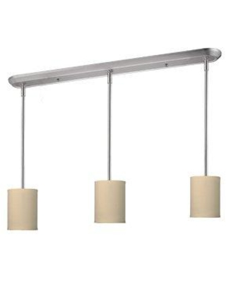 Mack & Milo Kasey 3-Light Kitchen Island Pendant W001108943 Shade Color: Off White