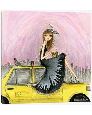 """East Urban Home Travel in Style Series: New York Painting Print on Wrapped Canvas USSC8091 Size: 26"""" H x 26"""" W x 1.5"""" D"""