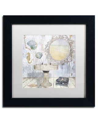 """Trademark Fine Art 'Beach House II' by Color Bakery Framed Graphic Art ALI4798-B1 Size: 11"""" H x 11"""" W x 0.5"""" D Matte Color: White"""