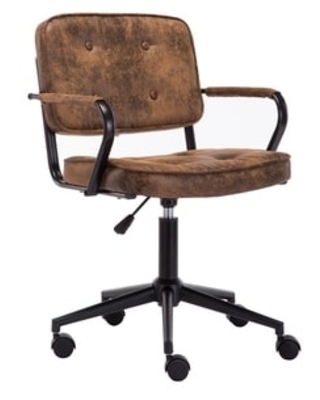 Sweet Savings On Porthos Home Itzel Office Task Chair Button Tufted Suede Upholstery Brown