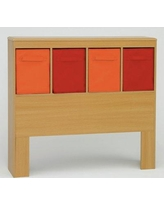 Isabelle & Max™ Abdi Twin Bookcase Headboard in Red/Orange, Size 40.0 H x 43.0 W x 9.5 D in   Wayfair VVRO5735 33287790