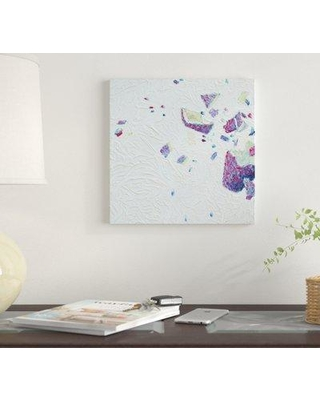 """East Urban Home 'LC 073' By Iris Scott Abstracts Graphic Art Print on Canvas EUME1756 Size: 12"""" H x 12"""" W x 0.75"""" D"""