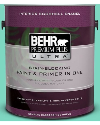 BEHR ULTRA 1 gal. #480A-3 Mint Majesty Eggshell Enamel Interior Paint and Primer in One