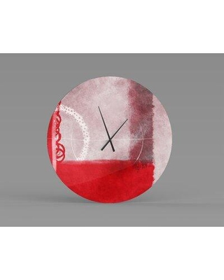 Deals For Orren Ellis Oversized Najarian Wall Clock Metal In Red Black Size Small Wayfair 64239a721558458e8af8d2dfd8a64098