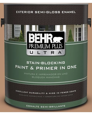 BEHR Premium Plus Ultra 1 gal. #S230-5 Sugar Maple Semi-Gloss Enamel Exterior Paint and Primer in One