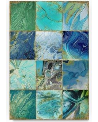 """Trademark Art 'Blue Earth' Graphic Art Print on Wrapped Canvas ALI20953-C Size: 24"""" H x 16"""" W"""