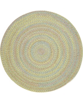 Play Date Lime Multi 6 ft. x 6 ft. Round Indoor/Outdoor Braided Area Rug