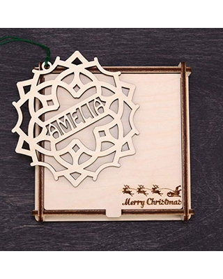 Wooden Personalized Gifts - Engraved Christmas Ornament, Wood Christmas Tree Ornament, Xmas Decor, Christmas Gift Box, Custom Christmas Gift