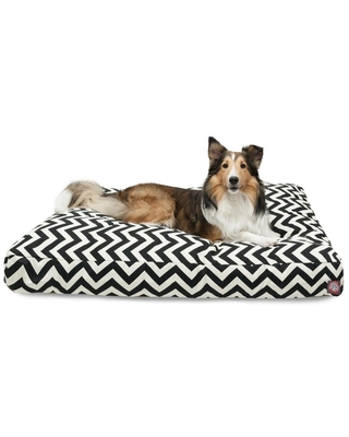 Majestic Pet Products Black Polyester Rectangular Dog Bed (For Large)   788995502265