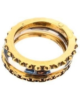 Punk Chain And Stud Triple Ring - Metallic - Alexander McQueen Rings