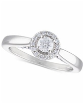 Certified Diamond Halo Engagement Ring (1/2 ct. t.w.) in 14k White Gold - White Gold