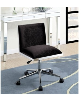 Furniture of America Ceto Contemporary Fabric Adjustable Office Chair (Black)