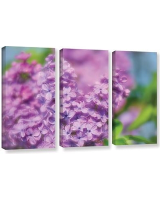"""August Grove Lilac I 3 Piece Photographic Print on Wrapped Canvas Set AGGR1010 Size: 36"""" H x 54"""" W x 2"""" D"""