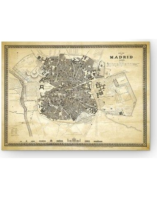 """WexfordHome 'Madrid Sketch Map II' Graphic Art Print on Wrapped Canvas HAC17-m111- Size: 16"""" H x 20"""" W x 1.5"""" D"""