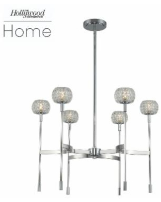 Kalco Lighting Mae 26 Inch 6 Light LED Chandelier - 511671CH