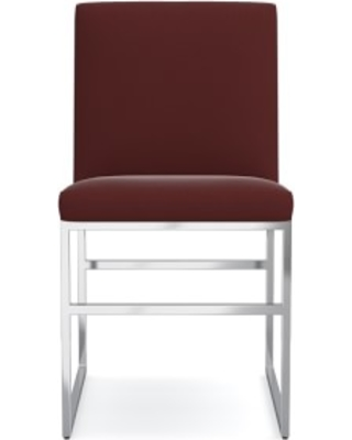 Lancaster Dining Side Chair, Signature Velvet, Cordovan, Polished Nickel