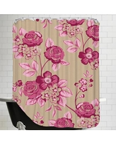 East Urban Home Pink Floral Shower Curtain EASU7779