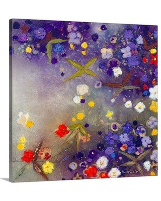 """Great Big Canvas 'Gardens in the Mist X' Aleah Koury Painting Print 2326035_1 Size: 24"""" H x 24"""" W x 1.5"""" D Format: Canvas"""