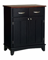 Home Styles Buffet of Buffet with Wood Top - Black