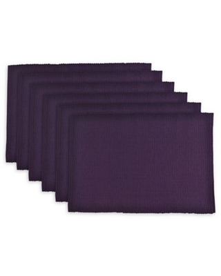 Design Imports Ribbed Placemats in Eggplant (Set of 6)