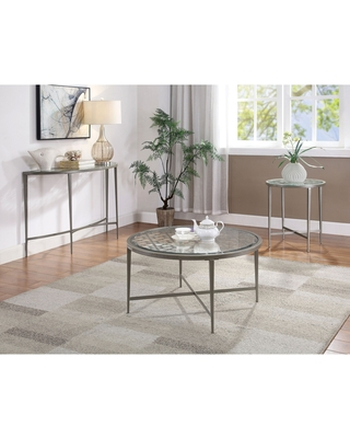 Furniture of America Fage Contemporary Silver 3-piece Accent Table Set