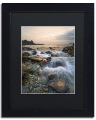 """Trademark Art """"Story of a Wave"""" by Mathieu Rivrin Framed Photographic Print RV0062-B1114BMF / RV0062-B1620BMF Size: 14"""" H x 11"""" W x 0.5"""" D"""