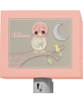 Oopsy Daisy Vintage Baby Owl by Kristen White Personalized Night Light NB21552
