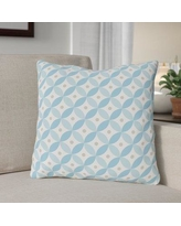 """The Holiday Aisle Matzo Pattern Throw Pillow THLY3295 Size: 18"""" x 18"""""""
