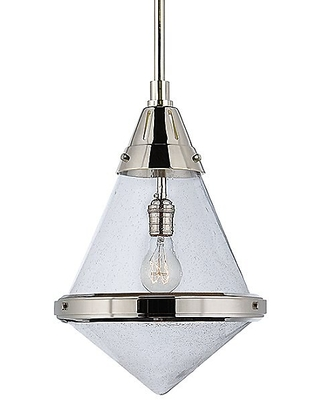 Gale Pendant by Visual Comfort - Color: White - Finish: Nickel - (TOB 5156PN-WG)