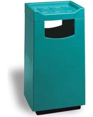 Allied Molded Products Melbourne Food Court Receptacle 30 Gallon Trash Can 77C2040FC Color: Navy Blue