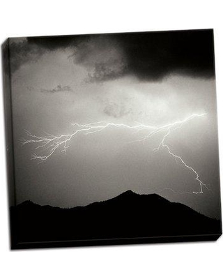 Millwood Pines 'Mountain Lightning Sq.' Photographic Print on Wrapped Canvas BF051718