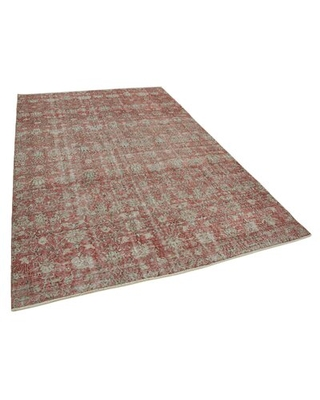 "One-of-a-Kind Balasi Hand-Knotted 1970s 6' x 9'4"" Wool Area Rug in Red Isabelline"