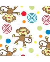 Trend Lab Monkey Print Flannel Fitted Crib Sheet 101324