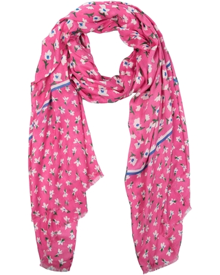Women's Kate Spade New York Bright Blooms Oblong Scarf, Size One Size - Pink