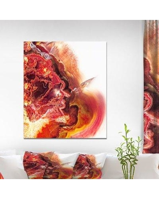 "East Urban Home Stone 'Red Agate' Graphic Art Print on Wrapped Canvas ETUC0396 Size: 40"" H x 30"" W x 1.5"" D"