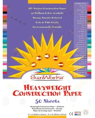 "Pacon® Sunworks® 12"" X 18"" Assorted Color Construction Paper, 50Ct. 