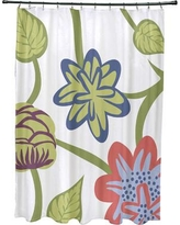 Red Barrel Studio Anurima Tropical Floral Print Shower Curtain RDBS2882 Color: Coral