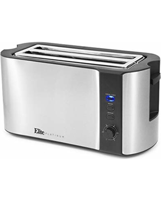 Sales On Elite Gourmet Ect 3100 Maxi Matic 4 Slice Long Toaster With Extra Wide Slot For Bread Croissants And Buns Reheat Cancel And Defrost 6 Adjustable Toast Settings Stainless Steel