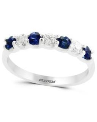 Effy White Gold Natural Sapphire and 0.25 ct. t.w. Diamond Band Ring In 14k White Gold