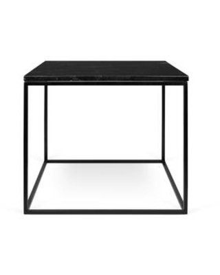 Gleam Collection 9500625978 20x20 Marble Side Table in Black
